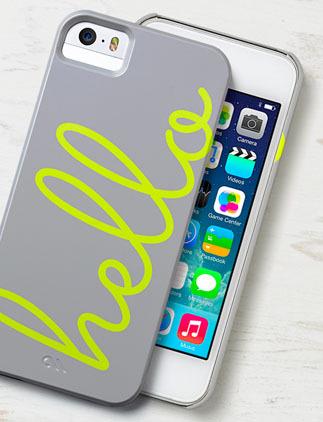 iPhone 5 fodral som går att utforma meg egna mönster, bilder och text.
