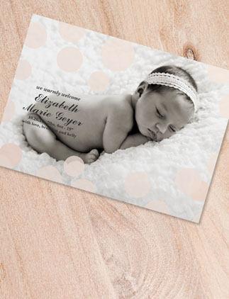Skapa baby kort och skicka iväg till släkt och vänner!