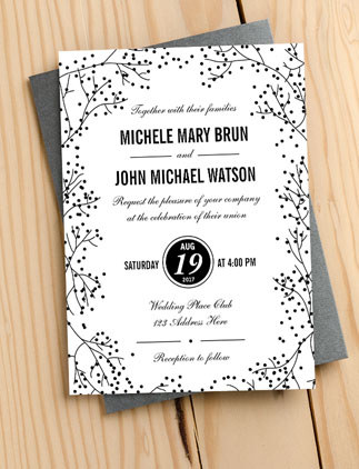 Eleganta Inbjudningskort