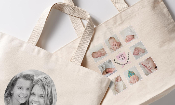 Accessories for Holidays: Personalized Photo Tote Bags