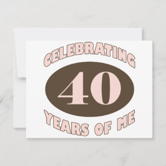 Inbjudningskort 40 År