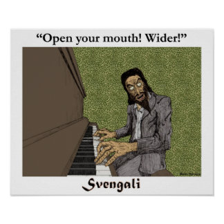 Svengali på pianot poster