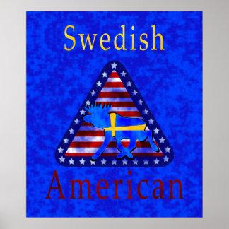 Svensk amerikan affisch