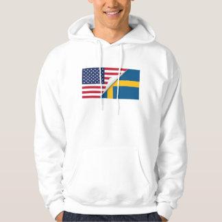Svensk amerikanska flaggan munkjacka
