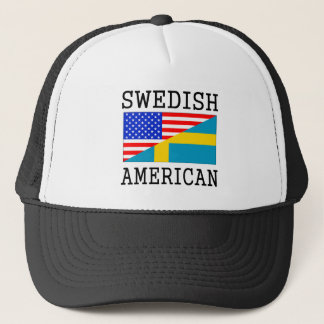 Svensk amerikanska flaggan truckerkeps