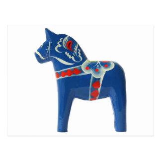 Svensk Dala för blått häst Vykort