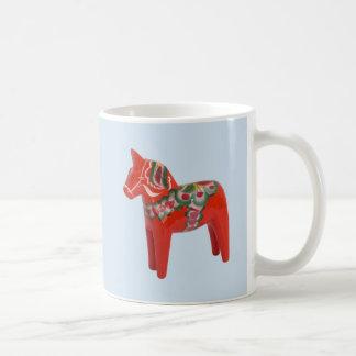 Svensk Dala hästskandinav Vit Mugg