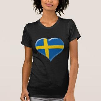 Svensk hjärtaberlock tee shirt
