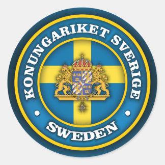 Svensk medaljong runt klistermärke