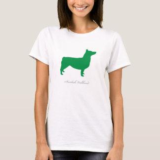 Svensk Vallhund T-tröja (ansluten grönt) Tröjor
