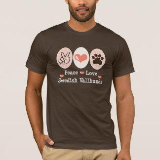 Svensk Vallhunds för fredkärlek utslagsplats Tee Shirts