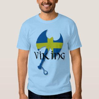 Svensk yxa för Viking sverigeflagga Tee