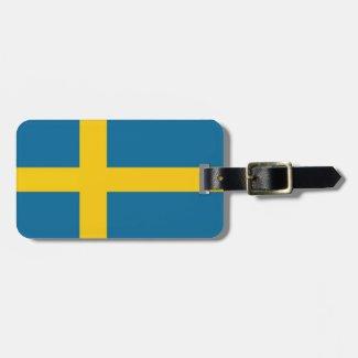 Svenska flaggan bagage lappar