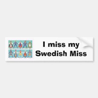 Svenska regionala dräkter för vintage bildekaler