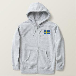 Svenska sportar för LAGSVERIGE med flagga Broderad Luvtröja