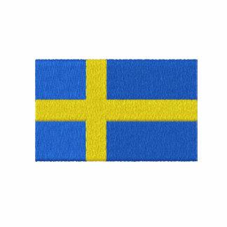 Svenska sportar för LAGSVERIGE med flagga Broderad Zipper Hoodie
