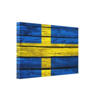 Svensken sjunker lantligt trä canvastryck