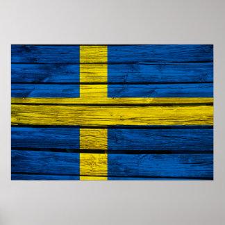 Svensken sjunker lantligt trä poster