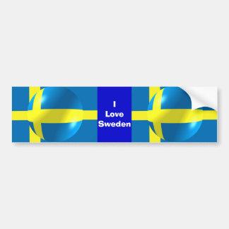 Svenskflagga älskar jag sverigebildekalet bildekal