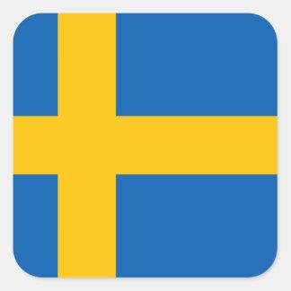 Svenskflagga Fyrkantiga Klistermärken