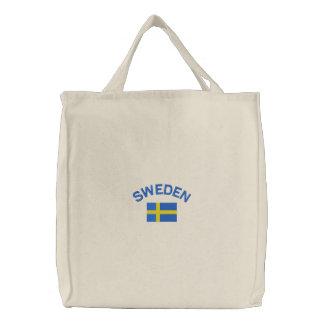 Svenskflagga i blått och gult tygkasse