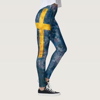 Svenskflagga Leggings