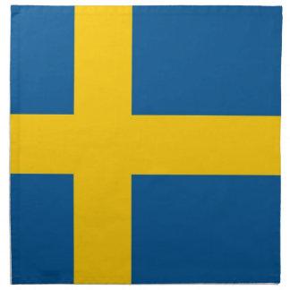 Svenskflagga på den MoJo servetten Näsduk