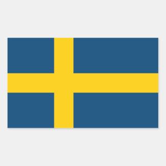 Svenskflagga Rektangulärt Klistermärke