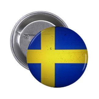 Svenskflagga Standard Knapp Rund 5.7 Cm