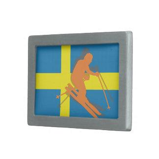 Svenskflaggasverigen skidar skidåkning