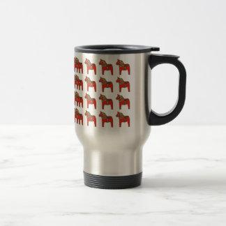Svenskt Dala hästmönster Kaffe Mugg