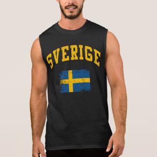 Sverige Ärmlös Tröja