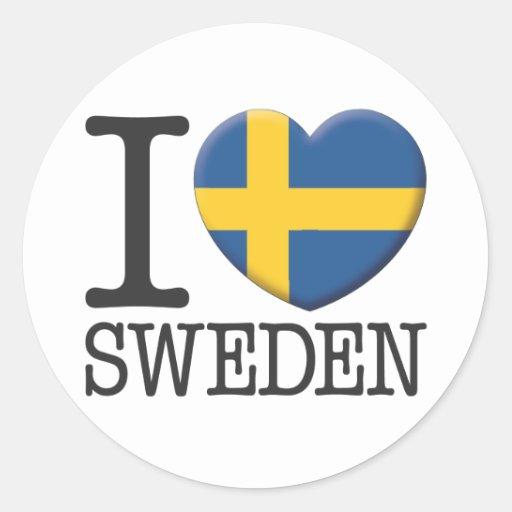 Sverige Runda Klistermärken