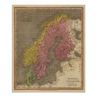 Sverige Danmark, norge Affisch