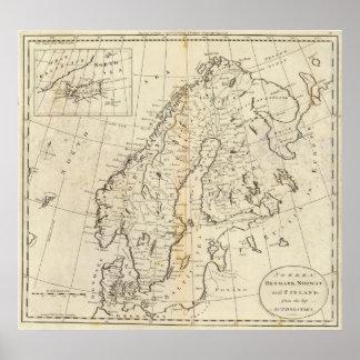 Sverige, Danmark, norge och Finland Affischer