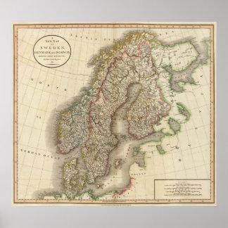 Sverige, Danmark och norge Poster