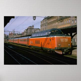 Sverige diesel- push-handtag för SJ trainset Poster
