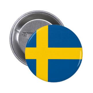 Sverige flagga pins