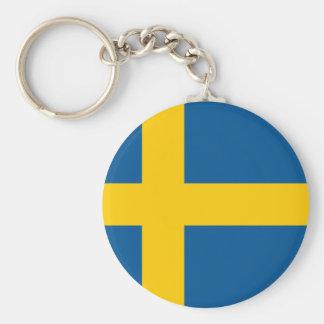 Sverige flagga rund nyckelring