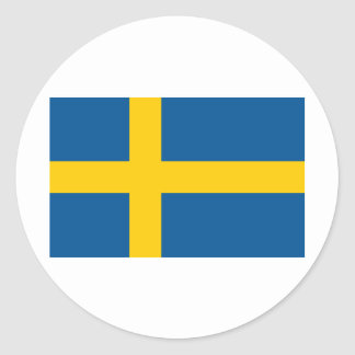 Sverige flagga runt klistermärke
