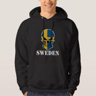 Sverige för svenskflaggaskalle hoodie
