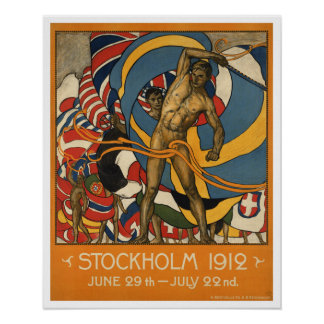 Sverige för vintageStockholm sportar Poster