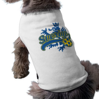 Sverige fotboll hund tröja