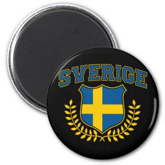 Sverige Magnet Rund 5.7 Cm