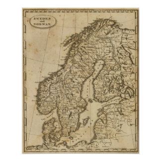 Sverige norge 3 print