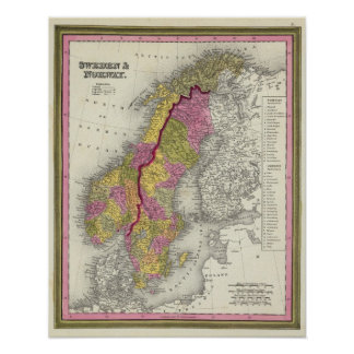 Sverige & norge affischer
