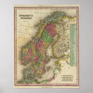 Sverige & norge affisch