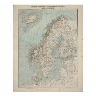 Sverige norge, Danmark 2 Poster