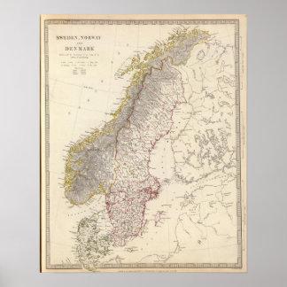 Sverige norge, Danmark 3 Print