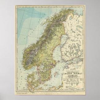 Sverige norge, Danmark Posters